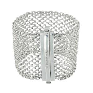 Tiffany & Co. Sterling Silver Wide Clasp Bracelet