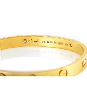 Cartier Love 18K Yellow Gold 0.42ct Diamonds Bracelet Size 17