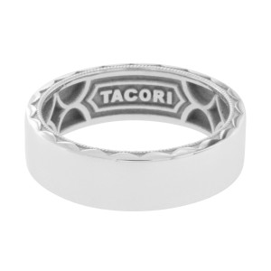 Tacori 18K White Gold Wedding Ring Size 10.5