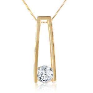 0.25 CTW 14K Solid Gold Necklace Natural 0.25 CTW Diamond