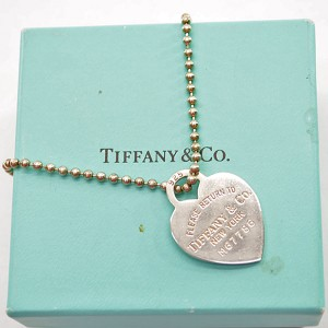 Tiffany & Co. 925 Sterling Silver Return Toe Heart Tag Necklace