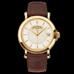 Patek Philippe Calatrava 5153J 18K Yellow Gold & Leather 38mm Watch