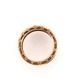 Bvlgari B.zero1 Three Band Ring 18K Rose Gold and Ceramic 10 - 62