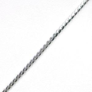 Platinum/Lavender flower/diamond Necklace