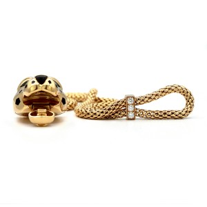 Cartier Panthère De Bracelet 18K Yellow Gold with 0.16ct Diamonds, Tsavorite Garnets and Onyx
