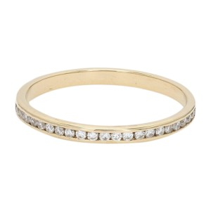 18K Yellow Gold with 0.21ct. Diamond Band Ring Size 5.5
