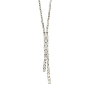14K White Gold with 0.12ct Diamond Luxury Necklace