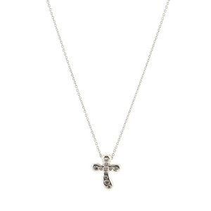 Tiffany & Co. Elsa Peretti Cross Pendant Necklace Platinum and Diamonds Large