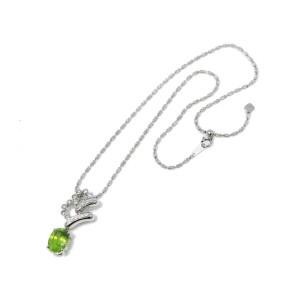Jeunet Sphene/18k white gold/Diamond Necklace
