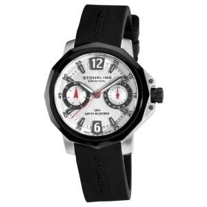 Stuhrling Vogue 332 332.122D62 Stainless Steel & Rubber 36mm Watch