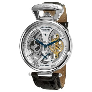 Stuhrling Emperor's Grand DT 127A2.33152 Stainless Steel & Leather 46mm Watch