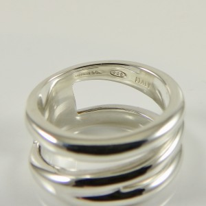 Tiffany & Co. Sterling Silver Wide Diagonal Band Ring