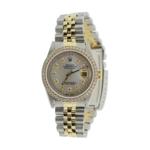 Rolex Datejust Two Tone 18K Ss Diamond Watch