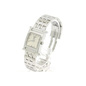 Hermes H HH1.210 Stainless Steel Quartz 21mm Womens Watch