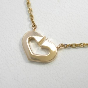 Cartier C Heart 750 Pink Gold Necklace