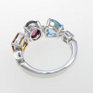 Bulgari 750 White Gold Allegra Ring