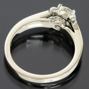 Cartier Platinum PT950 and Diamonds Ballerine Ring Size 3.75