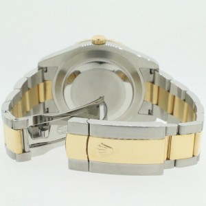 Rolex Datejust II 2-Tone 41MM Oyster Watch With 5.2CT Diamond Bezel/Black Diamond Dial