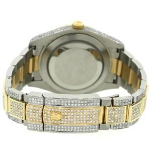 Rolex Datejust II 41mm 2-Tone Oyster 14.4ct Diamond Bezel/Lugs/Bracelet/White MOP Diamond Roman Dial