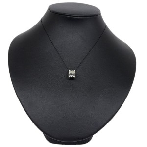 Bulgari 18K White Gold Pendant Charm Necklace