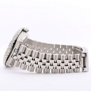 Rolex Datejust 36MM Steel Watch with 4.6CT Dome Diamond Bezel/Purple Diamond Roman Dial