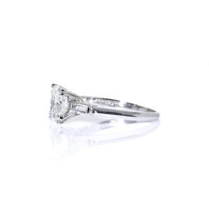 Estate Platinum with Round Brilliant 2.07 carat Diamond Engagement Ring