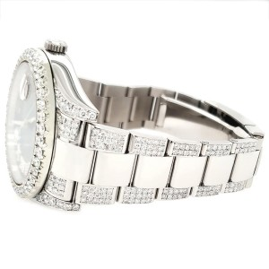 Rolex Datejust II 41mm Diamond Bezel/Lugs/Bracelet/Champagne MOP Diamond Dial Steel Watch 116300