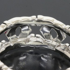 Cartier 18K White Gold Entrelaces Band Ring Size 7