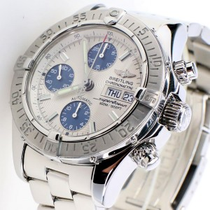 Breitling Chronometre Superocean 42MM Day Date Steel Watch