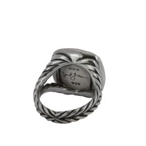 David Yurman Albion Ring with Diamonds, 11 mm