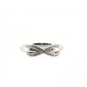 Tiffany & Co. Infinity Ring 18K White Gold and Diamonds 6 - 52