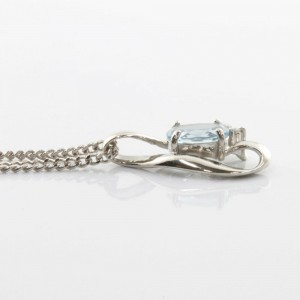 Platinum Diamond Kihei Aquamarine Necklace