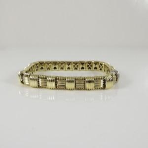 Roberto Coin 18K Yellow Gold Single Row Appassionata Bracelet with 0.18tcw Diamond Clasp