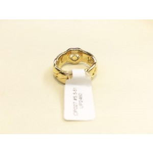 Chopard 18K Yellow Gold Happy Diamond 82/2501-20 Ring Size: 5.5