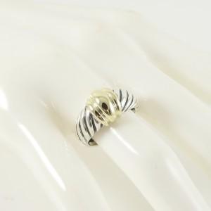 David Yurman Sterling Silver 14K Yellow Gold  Small Shrimp Ring