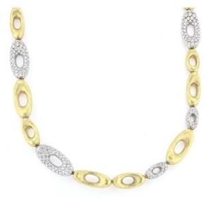 18K Yellow & White Gold Diamond Necklace