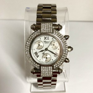 CHOPARD IMPERIALE Chronograph Quartz 32mm Steel Ladies Watch