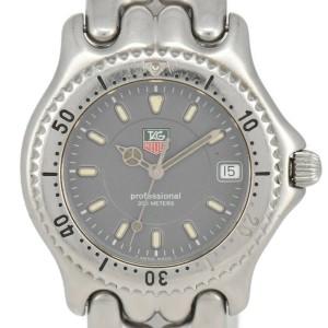 TAG HEUER S/el WG1113-0 Professional 200M gray Dial Quartz Men's Watch