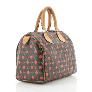 Louis Vuitton Speedy Handbag Limited Edition Monogram Cerises 25
