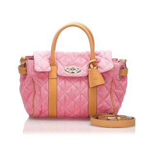Small Quilted Canvas Bayswater Satchel