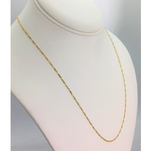 14k Yellow Gold Figaro Chain Necklace 20''