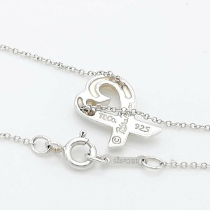 TIFFANY & Co. silver Loving Heart 1-piece diamond necklace