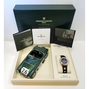 Frederique Constant Rally Healey Rose Gold Plated Stainless Steel Mens Watch
