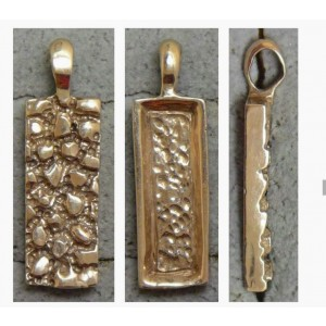 Gold Nugget Style Pendant Modern or classic