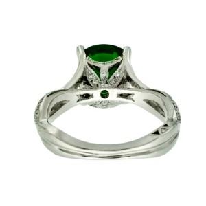 Tacori Platinum Chrome Diopside .28 ctw. Diamond Ring Size 6.5