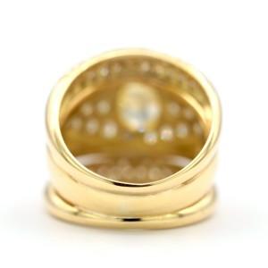 1.21 Carat Natural Fancy Intense Yellow Internally Flawless In A 18 Karat Ring Size 6