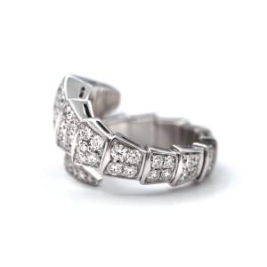 Bulgari Serpenti One-coil 18 Karat With Pave Diamonds Ring
