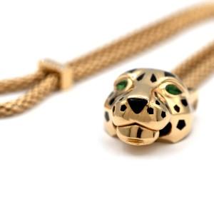 Cartier Panther De Cartier Bracelet 18 Karat Gold With Diamonds And Tsavorite Garnets