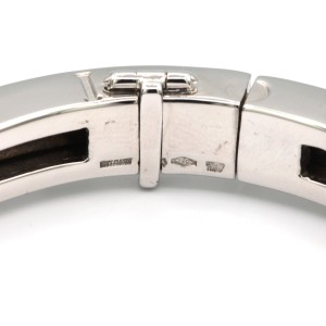 Bulgari B.zero 1 Diamond Bangle Bracelet In 18 Karat White Gold
