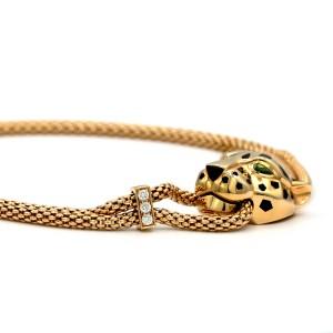 Cartier Panther De Cartier Necklace 18 Karat Yellow Gold